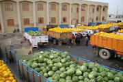 صادرات ۸۲ هزار تن محصولات کشاورزی از مرز مهران به عراق